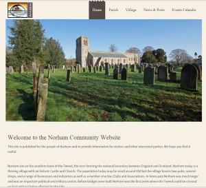 Webseite Norham Parish
